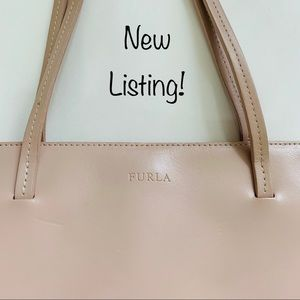 Furla vintage pink leather handbag